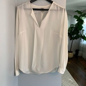 100% Silk White Anne Klein Top